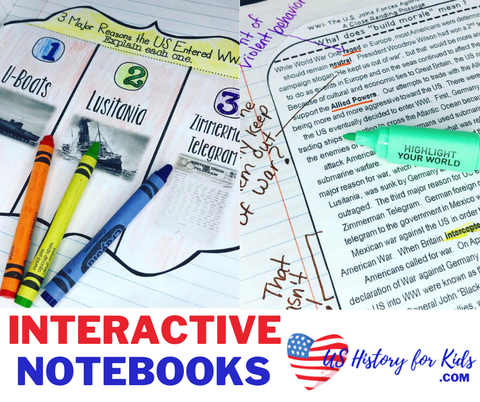 us history interactive notebooks for social studies