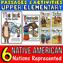 Load image into Gallery viewer, native american passages for interactive notebooks for kids
