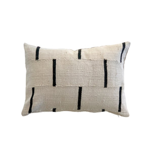 White Mudcloth 14x20 Pillow Cover