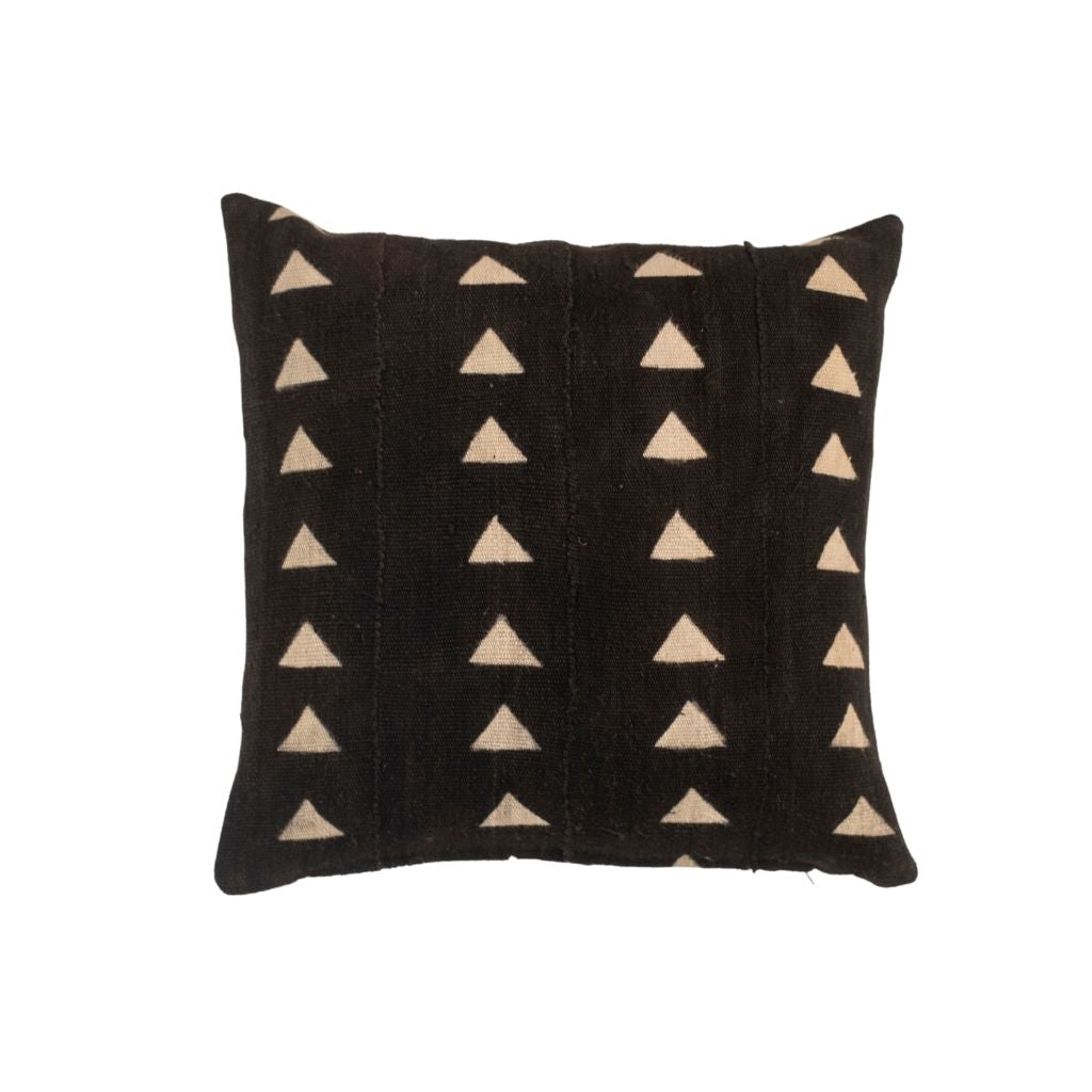 Black Mud Cloth Pillow Cover 18x18