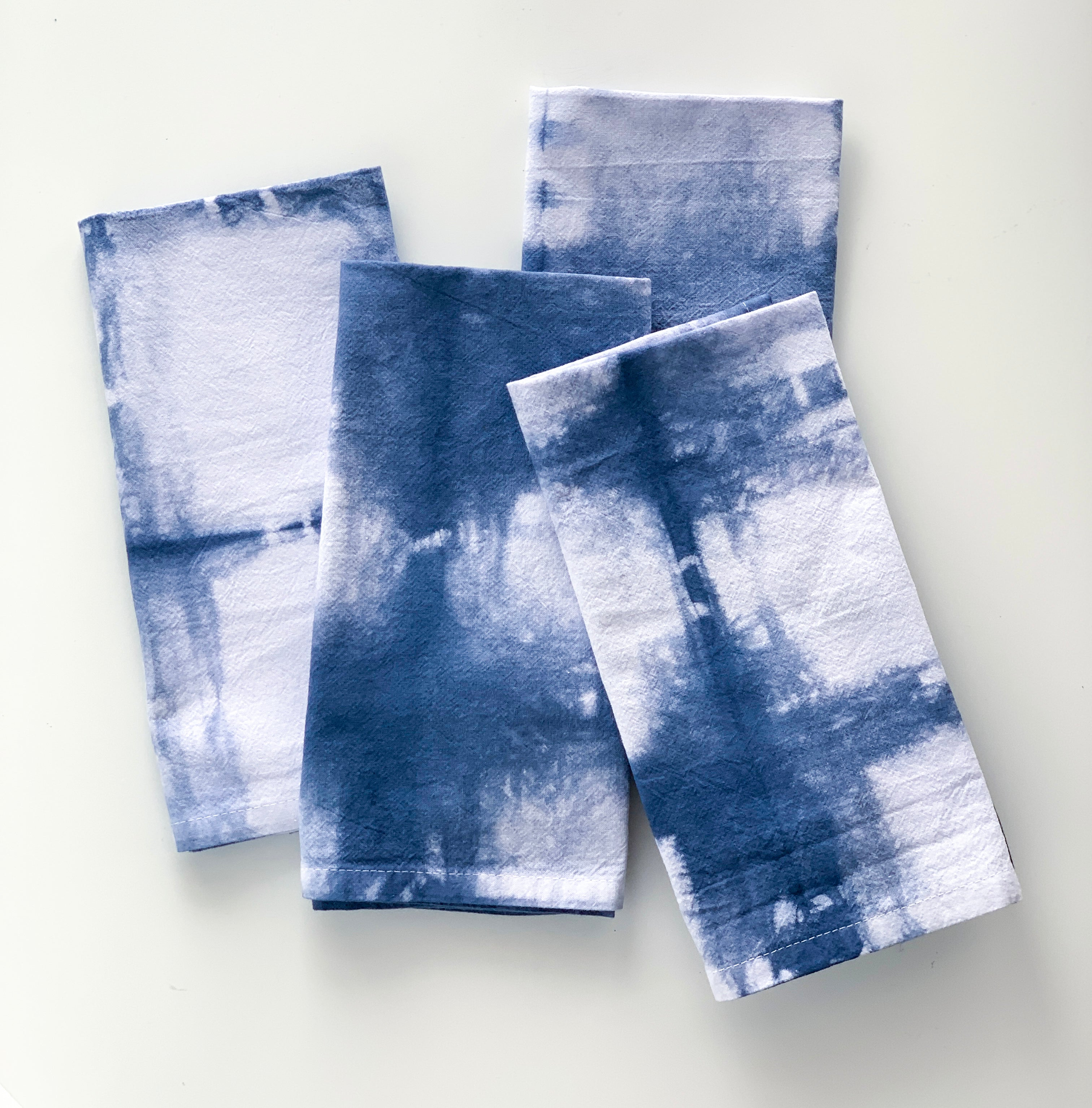 Shibori Hand-Dyed Cloth Napkins