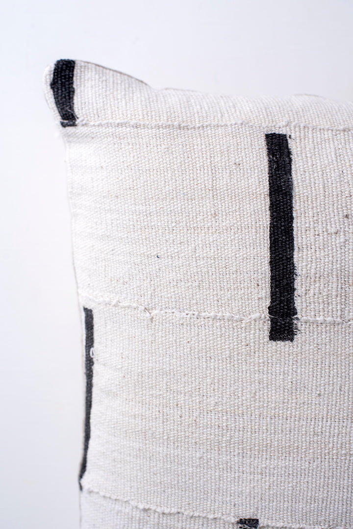 White Mud Cloth Pillow Cover 20x20