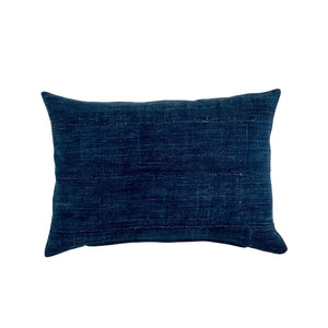 Vintage Solid Indigo Lumbar Pillow Cover 14x20