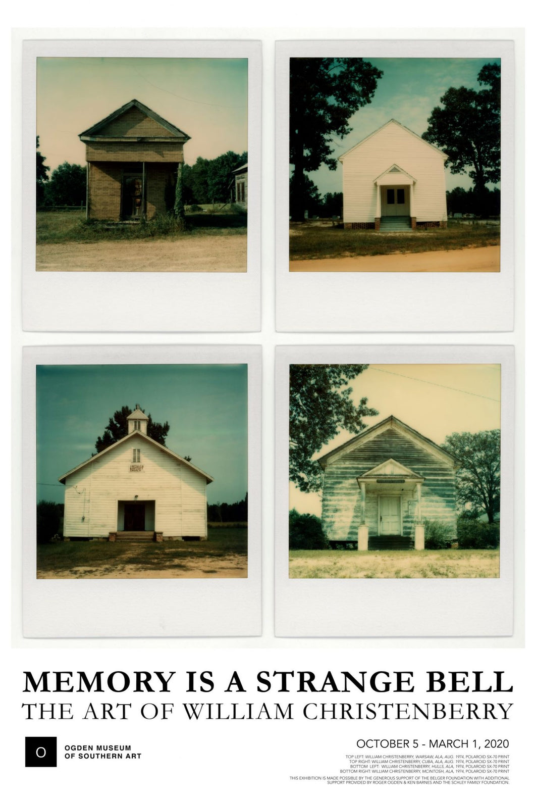 William Christenberry Poster