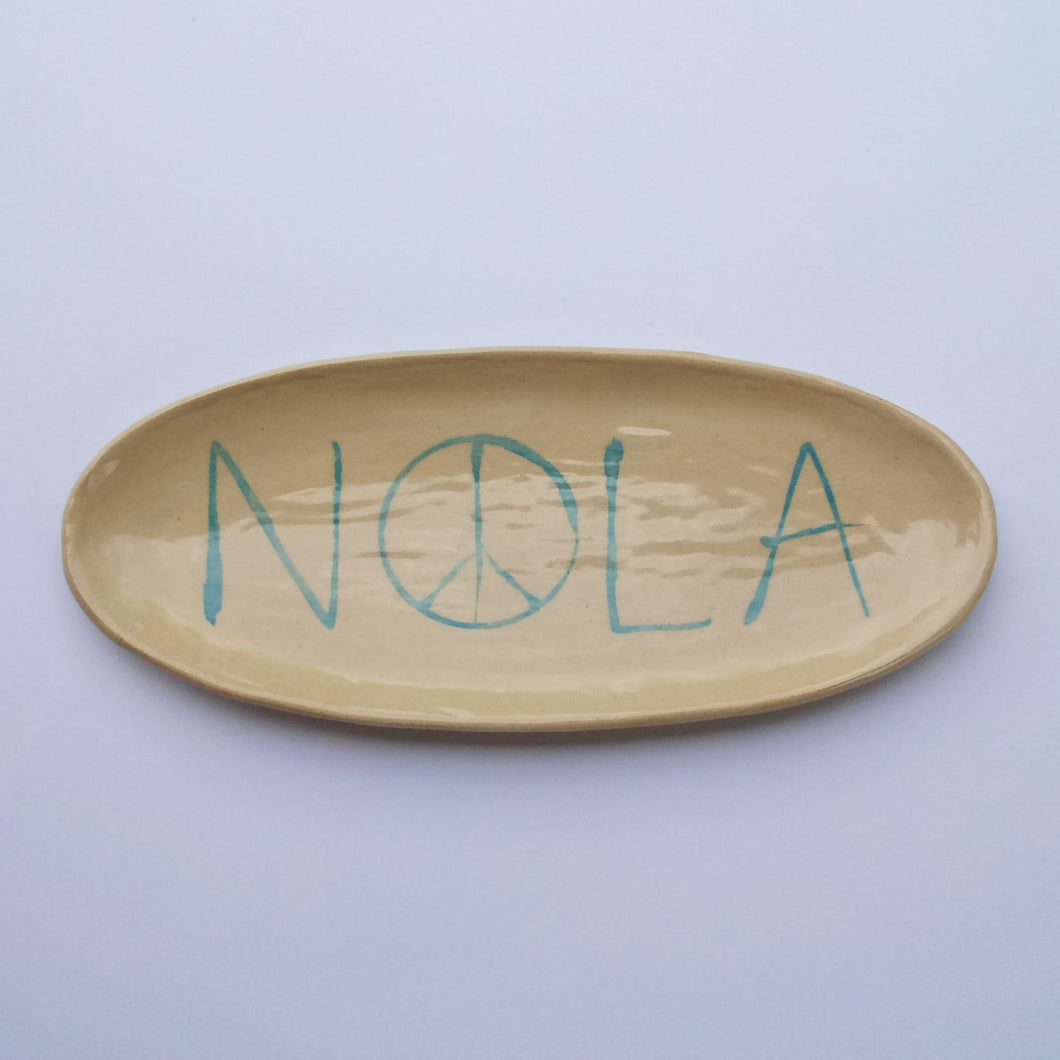 NOLA Peace Serving Plate
