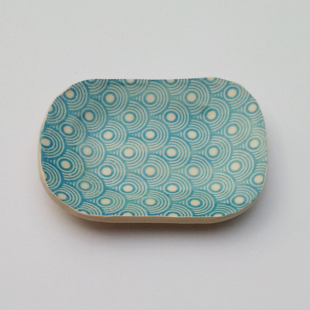 Small dish with mesmerizing circles print