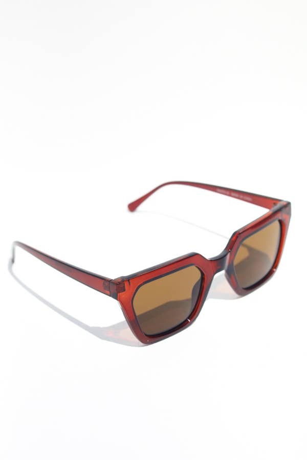 Snatched Square Frame Sunglasses