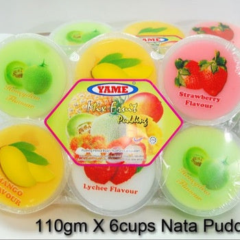 Yame Mixed Fruit Pudding 3.88oz 6 cups