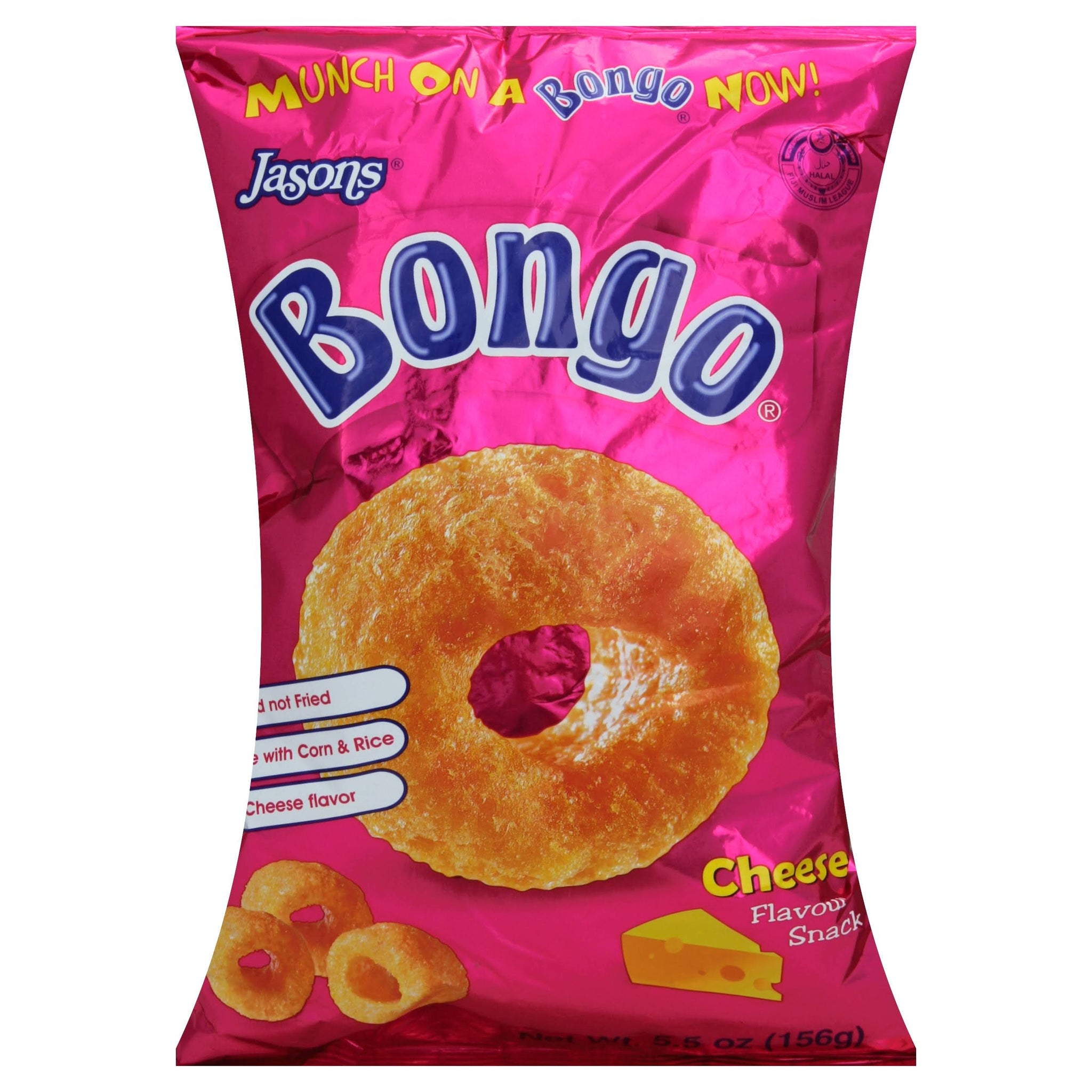 Bongo Natural Cheddar Cheese Flavored Baked Puffs 5.5oz