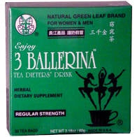 3 Ballerina Herbal Tea Regular Strength 30ct