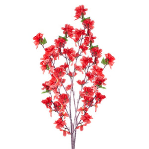 "ARTIFICIAL FLOWER Red 46""L"