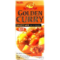 S&B Golden Curry Japanese Curry Mix 3.2oz  Mild