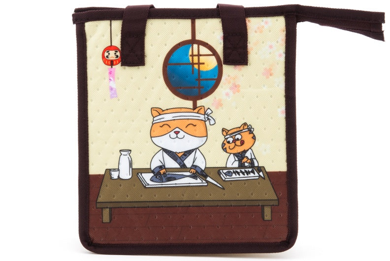 Insulated Bag Sushi Cat (LARGE)
