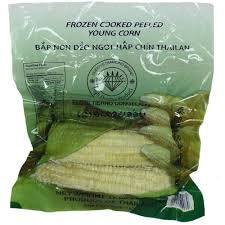 Queen's Diamond Frozen Cooked Peeled Young Corn 14oz