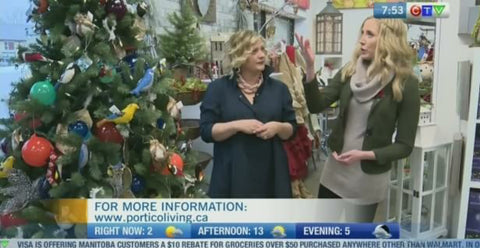 "CTV ""Morning Live"" talks to Tracy about Portico Indoor & Outdoor Living and Holiday 2016"