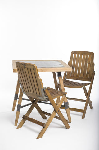 DINING SET - 3PC RECLAIMED WOOD/METAL - Portico Indoor & Outdoor Living Inc.