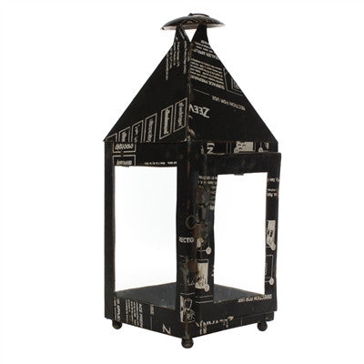 LANTERN RECLAIMED METAL GATEHOUSE - BLACK - Portico Indoor & Outdoor Living Inc.