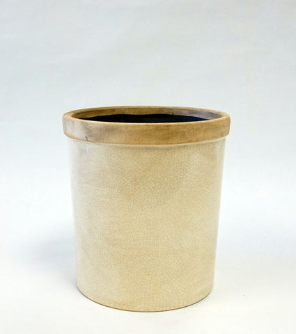 Baxter Ceramic Cachepots-Petite-Antique White - Portico Indoor & Outdoor Living Inc.