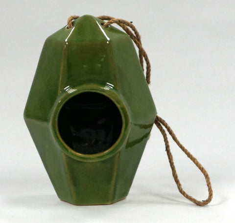 BIRDHOUSE - CERAMIC GREEN - Portico Indoor & Outdoor Living Inc.