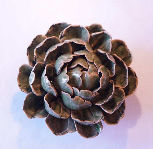 Ceramic Flower - Artichoke Lg Green - Portico Indoor & Outdoor Living Inc.