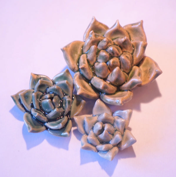 Ceramic Flower - Succulent Trio - Portico Indoor & Outdoor Living Inc.