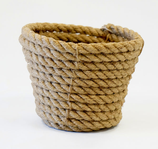 COILED ROPE CACHEPOT SMALL - Portico Indoor & Outdoor Living Inc.