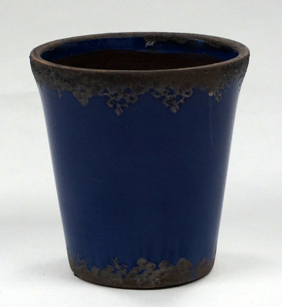 CACHE POT - CRACKLED COBALT - Portico Indoor & Outdoor Living Inc.