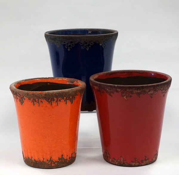 CACHE POT - CRACKLED RED - Portico Indoor & Outdoor Living Inc.