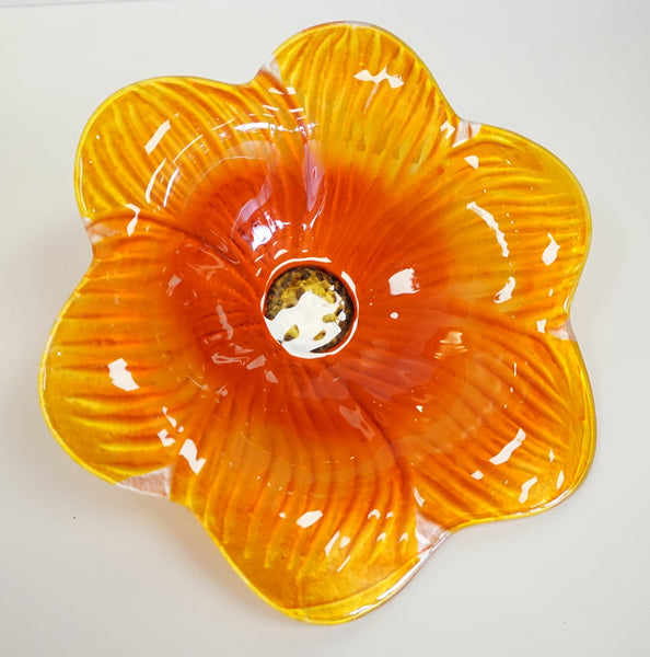 Flower Stake - Art Glass Orange - Portico Indoor & Outdoor Living Inc.