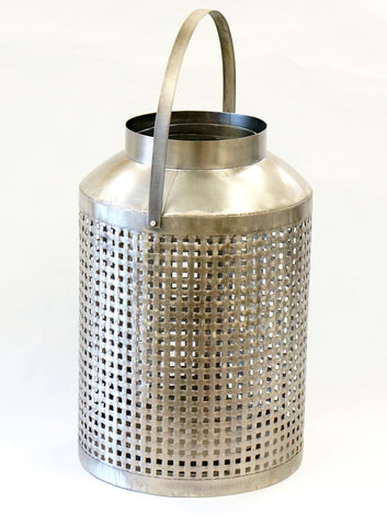 LANTERN - SILVER LATTICE LARGE - Portico Indoor & Outdoor Living Inc.