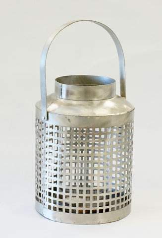 LANTERN - SILVER LATTICE SMALL - Portico Indoor & Outdoor Living Inc.