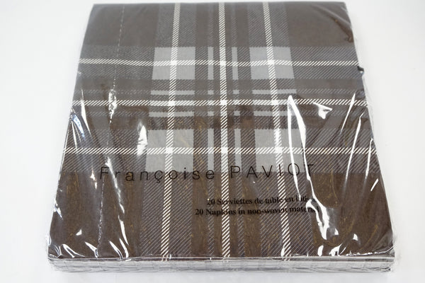 NAPKINS  - X DINNER CHOCOLATE TARTAN - Portico Indoor & Outdoor Living Inc.