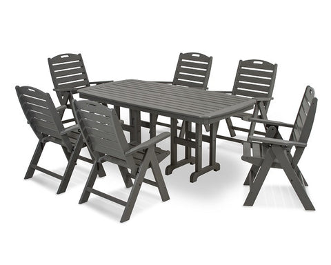 Nautical 7 pc Dining Set - Slate Grey - Portico Indoor & Outdoor Living Inc.