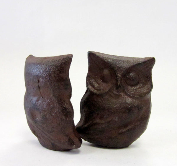 Owl Figure - Brown Metal - Portico Indoor & Outdoor Living Inc.