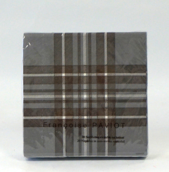 NAPKINS - X COCKTAIL CHOCOLATE TARTAN - Portico Indoor & Outdoor Living Inc.