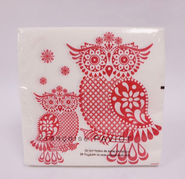 NAPKINS - DINNER OWL RED - Portico Indoor & Outdoor Living Inc.