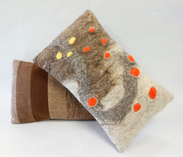 Pillow - Felted Wool Mod Orange - Portico Indoor & Outdoor Living Inc.
