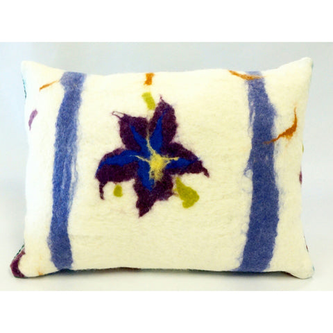 Pillow - Felted Wool Purple Iris - Portico Indoor & Outdoor Living Inc.