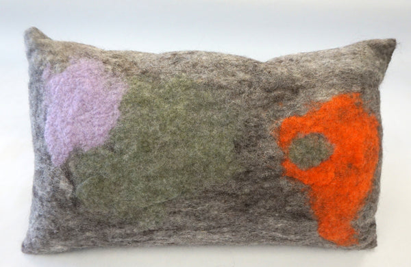 Pillow - Felted Wool Large Mod Orange - Portico Indoor & Outdoor Living Inc.