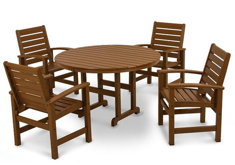 "Signature Dining Set- ""Teak"" 5 pc - Portico Indoor & Outdoor Living Inc."
