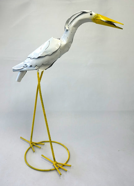 METAL GARDEN FIGURE - STANDING CRANE - Portico Indoor & Outdoor Living Inc.
