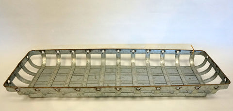 Tray - Open Weave Rusted Metal Large - Portico Indoor & Outdoor Living Inc.