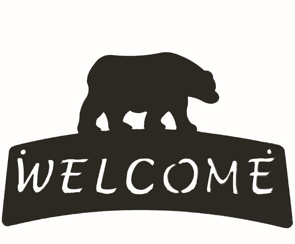 Welcome Plaque - Bear - Portico Indoor & Outdoor Living Inc.