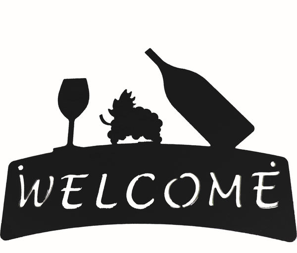 Welcome Plaque - Wine - Portico Indoor & Outdoor Living Inc.