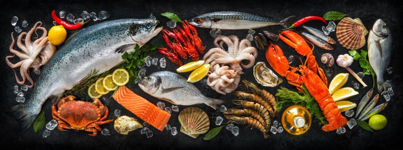 US wide variety of seafood