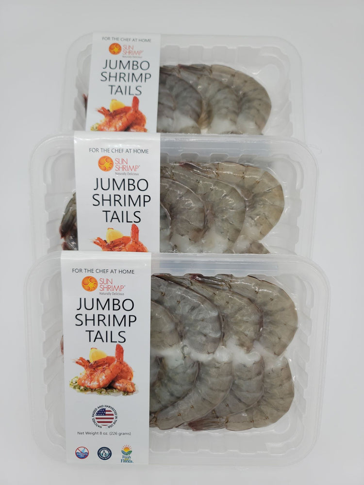 Fresh Harvested Jumbo Sun Shrimp Tails - Family 10 Pack! - Free Shipping