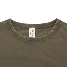 Load image into Gallery viewer, Basic Scoop T-Shirt Olive Vintage Wash