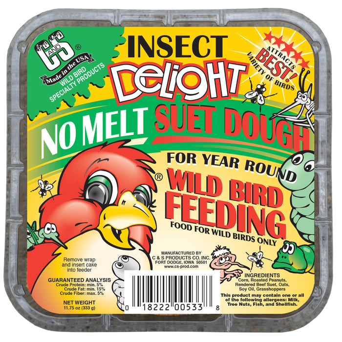 Product image for Insect Delight No Melt Suet Dough, 12/pack