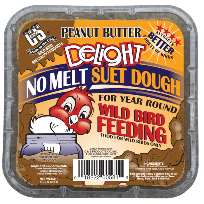 Product image for Peanut Butter Delight No Melt Suet Dough, 12/pack