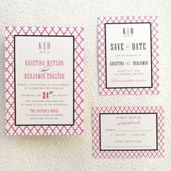 Moroccan Colour Pop Wedding, Bridal Shower or Party Printed Invitation Suite 7548